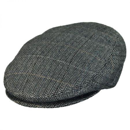 Jaxon Hats - Made in Italy Tiber Herringbone Flat Cap