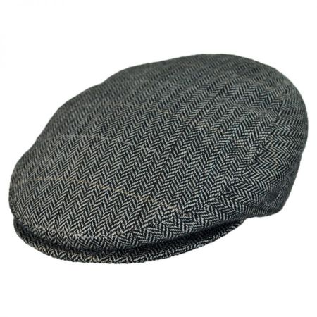 Jaxon Hats - Made in Italy Tiber Herringbone Flat Cap