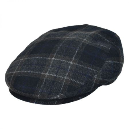 Jaxon Hats - Made in Italy Sango Plaid Flat Cap