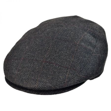 Jaxon Hats - Made in Italy Tronto Herringbone Flat Cap