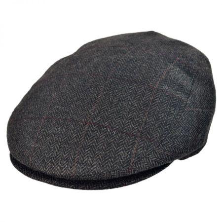 Jaxon Hats - Made in Italy Tronto Herringbone Flat Cap