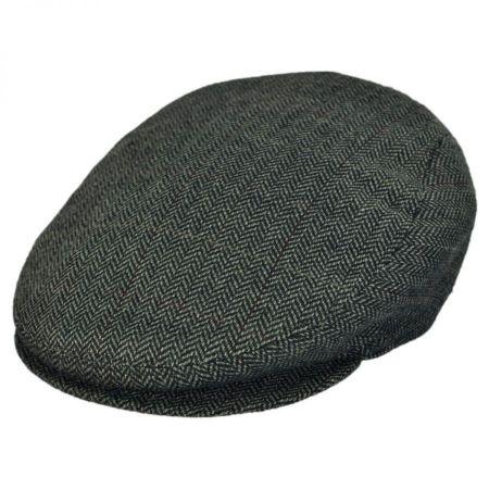 Jaxon Hats - Made in Italy Tresa Herringbone Flat Cap