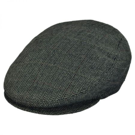 Jaxon Hats - Made in Italy Tresa Herringbone Flat Cap