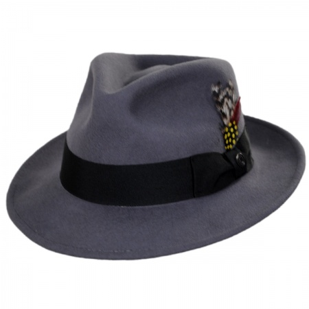Jaxon Hats - C-Crown Crushable Wool Felt Fedora Hat