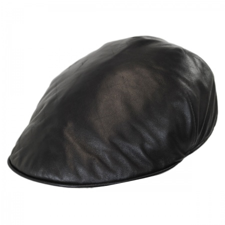 Stefeno Lambskin Luxe Ascot Cap