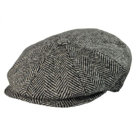 Jaxon Hats - Made in Italy Herringbone Wool Newsboy Cap