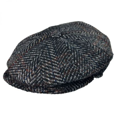 Jaxon Hats - Made in Italy Fred Mix Herringbone Newsboy Cap