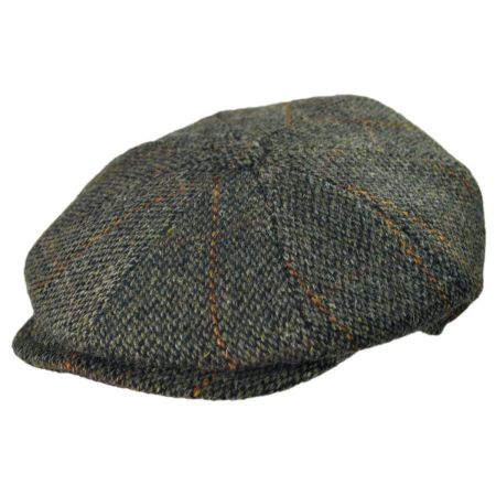 Jaxon Hats - Made in Italy Harris Tweed Wool Newsboy Cap