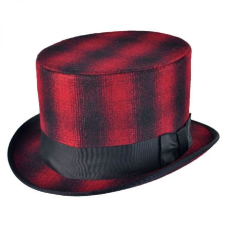 Jaxon Hats Plaid Top Hat