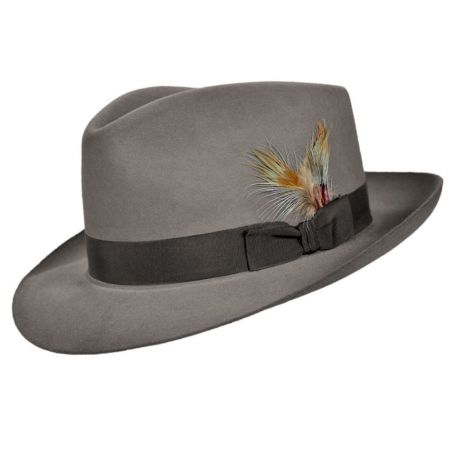 ccb9aae4d684f3 Grey Felt Fedora at Village Hat Shop
