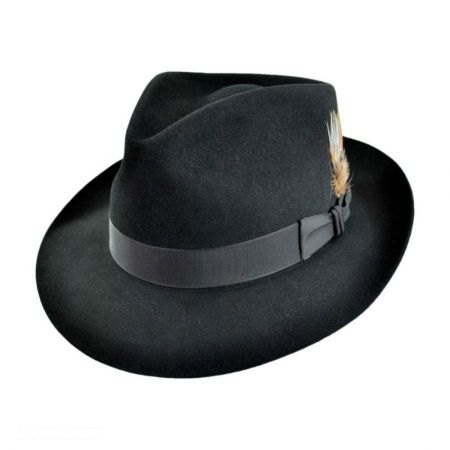 Stetson Downs Fur Felt Fedora Hat