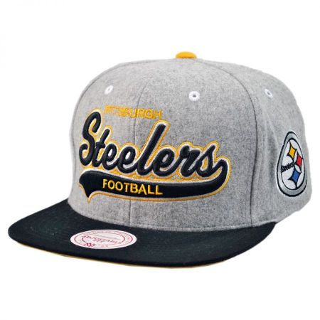 Mitchell & Ness Pittsburgh Steelers NFL Heather Melton Strapback Baseball Cap