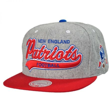 Mitchell & Ness New England Patriots NFL Heather Melton Strapback Baseball Cap