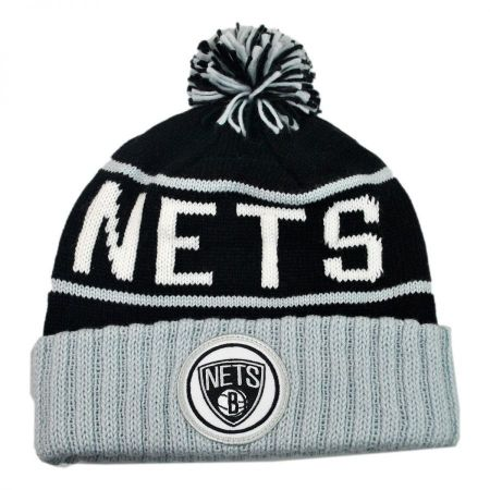 Mitchell & Ness Brooklyn Nets High 5 Beanie