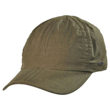 Waxed Cotton Baseball Cap with Earflaps