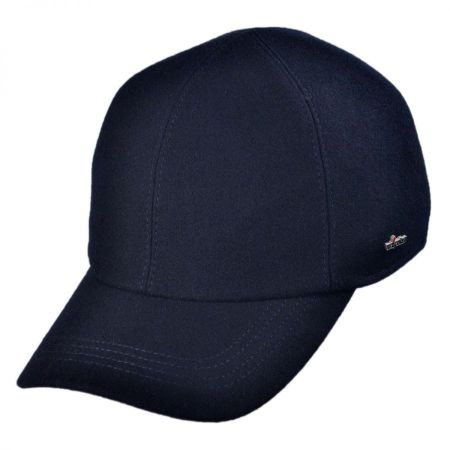 Wigens Caps Melton Wool Baseball Cap with Earflaps