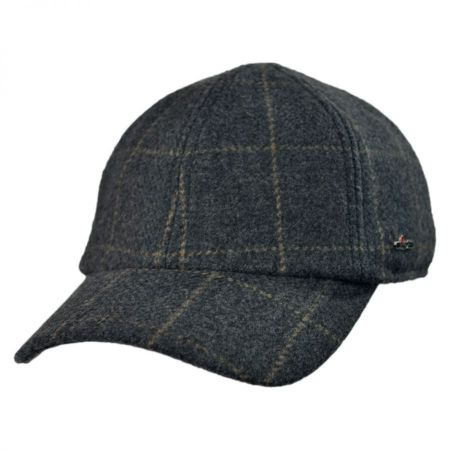 Wigens Caps Wool Cashmere Baseball Cap with Earflaps