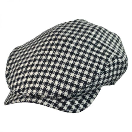 Wigens Caps Lambswool Houndstooth Check Ivy Cap