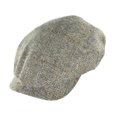 Harris Tweed Herringbone Check Ivy Cap with Earflaps