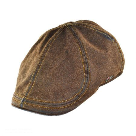 Wigens Caps Suede Denim Duckbill Ivy Cap with Earflaps