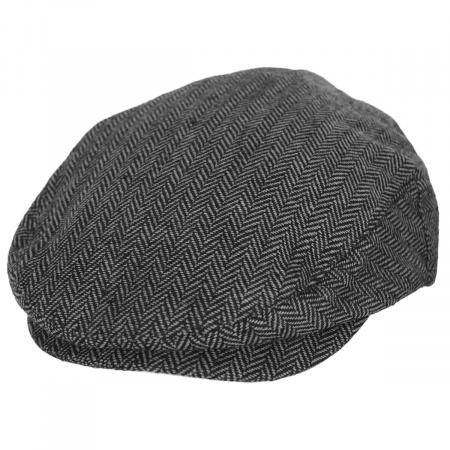 Brixton Hats Hooligan Herringbone Wool Blend Ivy Cap