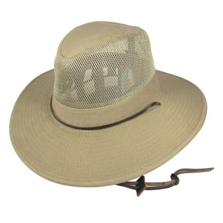 Dorfman Pacific Mesh Crown Aussie Hat