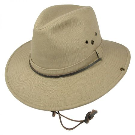 Dorfman Pacific Aussie Hat with Chin Cord