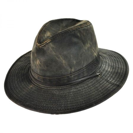 Weathered Cotton Aussie Hat