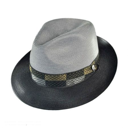 Andover Florentine Milan Straw Fedora Hat alternate view 96