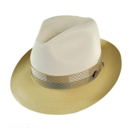 Andover Florentine Milan Straw Fedora Hat alternate view 21
