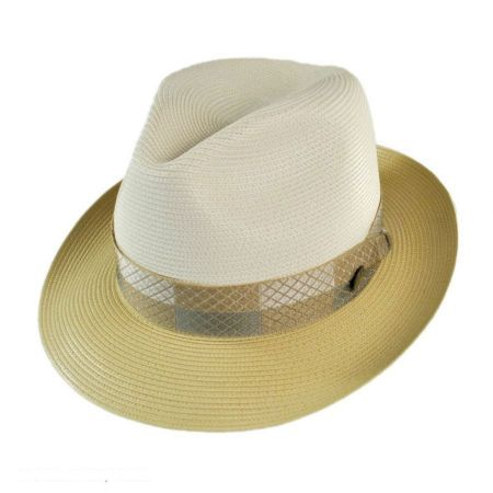 Stetson Andover Florentine Milan Straw Fedora Hat