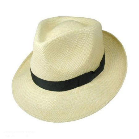 Retro Panama Straw Fedora Hat
