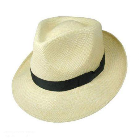 Stetson Retro Panama Straw Fedora Hat