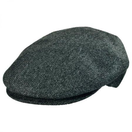 Jaxon Hats - Made in Italy Wool Cashmere Herringbone Ivy Cap