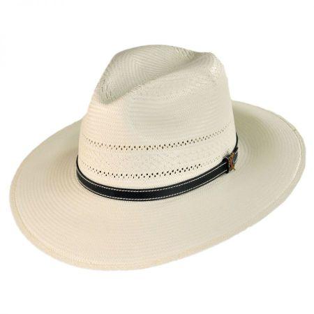 Carlos Santana Bora Shantung Straw Fedora Hat