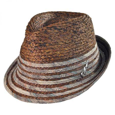 Carlos Santana Pueblo Raffia Straw Fedora Hat