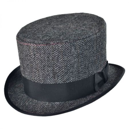 Jaxon Hats English Herringbone Top Hat
