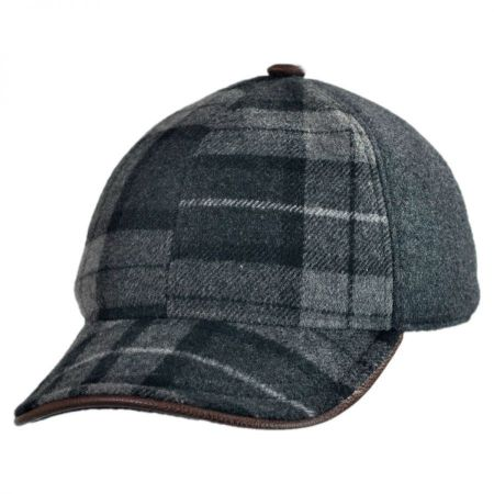 Bigalli Bigalli - Plaid Leather Baseball Cap