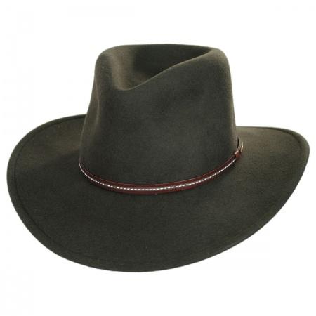 824d476b6da Stetson Gallatin Crushable Wool Felt Outback Hat