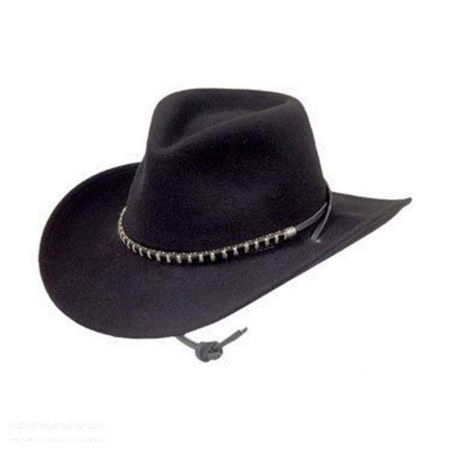 Stetson Black Foot Crushable Wool Felt Western Hat