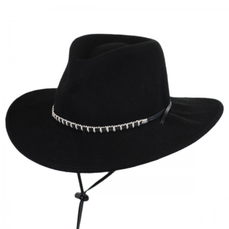Black Foot Wool Felt Western Hat alternate view 9
