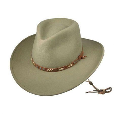 Stetson Santa Fe Crushable Wool Felt Western Hat