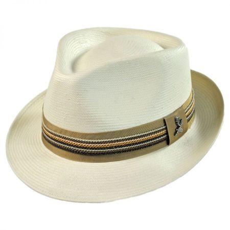Carlos Santana Salvador Shantung Straw Fedora Hat