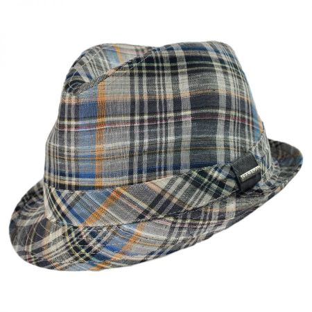 Stetson Fedora Plaid Hat