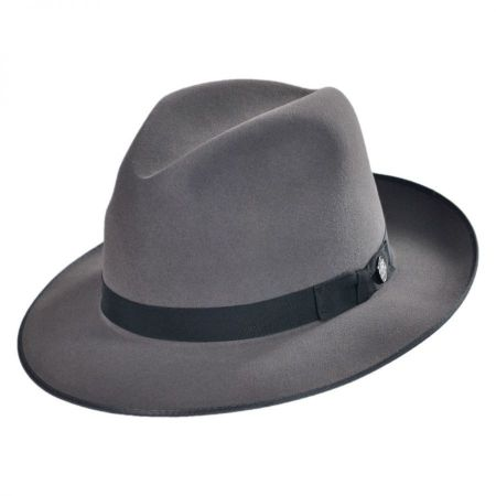 Grey Felt Fedora at Village Hat Shop b545b7d691d