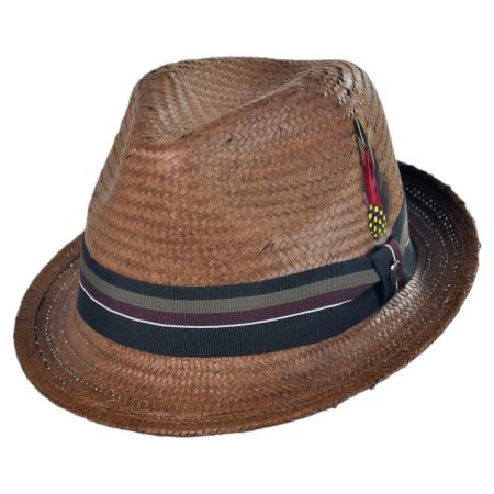 B2B Jaxon Tribeca Toyo Straw Trilby Fedora Hat