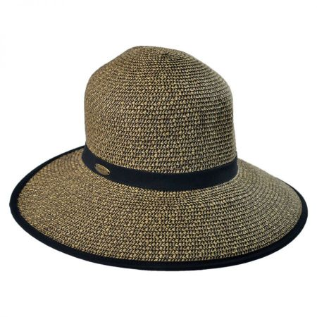 Cappelli Straworld Toyo Straw Braid Facesaver Hat - Coffee