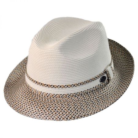 Mannesroe Polybraid Straw Fedora Hat alternate view 13