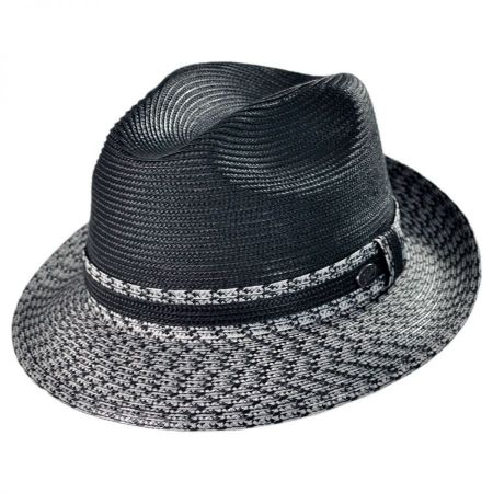 Mannesroe Polybraid Straw Fedora Hat alternate view 1