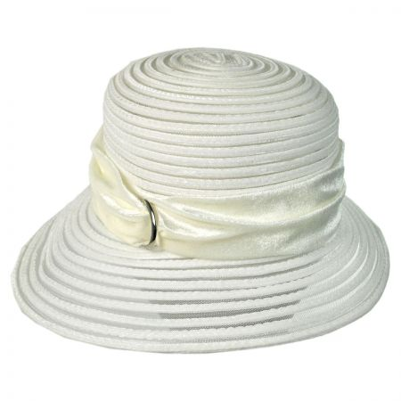 Swan Velvet Crushable Cloche Hat